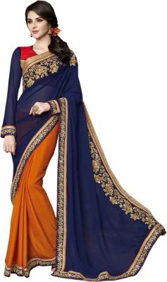 Fashion4masti Embriodered Bollywood Georgette Sari