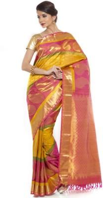 Sudarshan Silks Self Design Kanjivaram Handloom Jacquard Sari