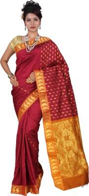Tusk Printed Kanjivaram Handloom Silk Sari