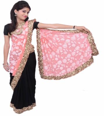 Lado Fashion Square Applique Bollywood Georgette Sari