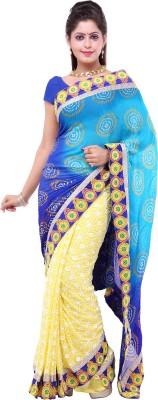 Lado Fashion Square Printed Bandhani Georgette Sari
