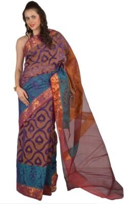 9rasa Printed Banarasi Organza Sari