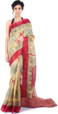 Bazzzar Printed Bhagalpuri Handloom Art Silk Sari