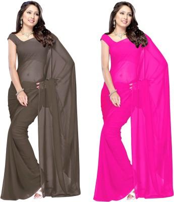 Lovelylook Solid Fashion Georgette Sari