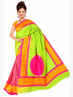 Lovely Look Printed Daily Wear Silk Sari