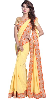 Hanis Solid Fashion Handloom Georgette Sari