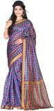 Colorbox Checkered Fashion Art Silk Sare...