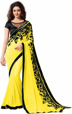 Treadindia Embriodered Bollywood Chiffon Sari