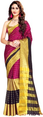 Shree Vaishnavi Woven Bollywood Silk Cotton Blend Sari