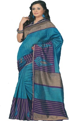 MANSHI FASHION Striped Fashion Chanderi Sari