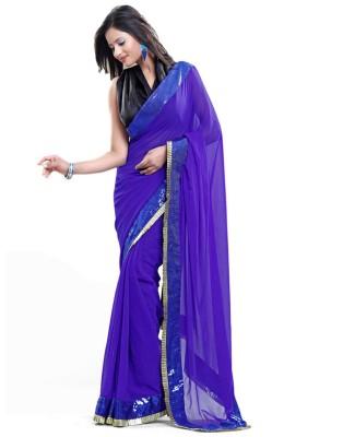 Aimretail Self Design Fashion Chiffon Sari
