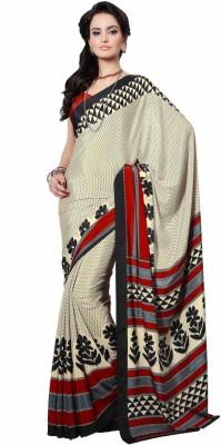 Cotton Studio Printed Daily Wear Crepe Sari