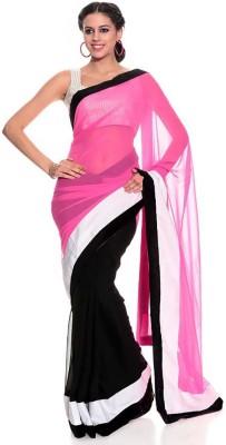 Glory Sarees Solid Fashion Handloom Chiffon Sari