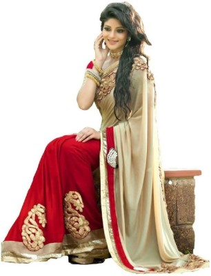 Spangel Fashion Embriodered Bollywood Georgette Sari