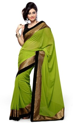 Shoppingekart Plain Fashion Georgette Sari