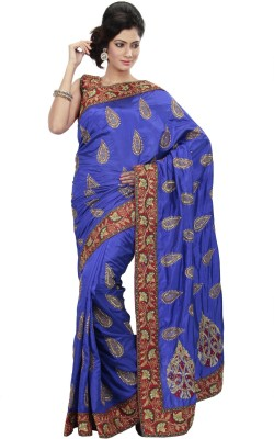 Ambition Embriodered, Embellished Bollywood Silk Sari