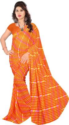 Glamoroussurat Fashion Striped Bollywood Handloom Georgette Sari