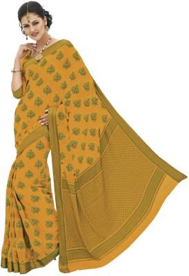 Rajguru Rise Floral Print Banarasi Chiffon Sari