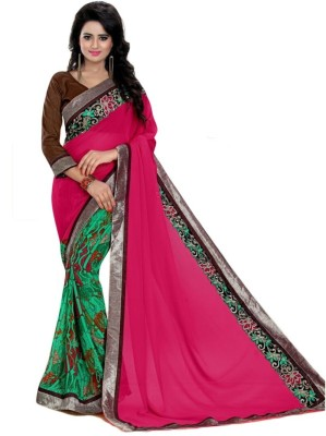 Hoor Printed Fashion Georgette Sari