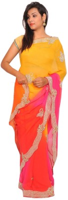 Raas Jaipur Embriodered Fashion Georgette Sari