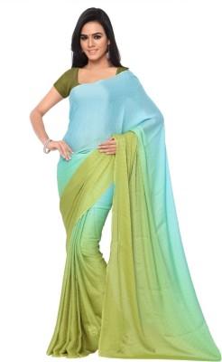 GL Sarees Self Design Fashion Crepe Sari