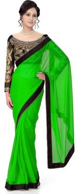Winza Embellished, Embriodered, Plain, Self Design, Solid Bollywood Georgette Sari