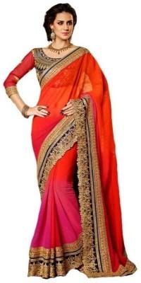 Fabian Fashion Self Design Bollywood Georgette Sari