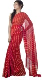 Sarswati Striped Bandhej Pure Chiffon Sa...