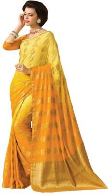 Radhika Creation Self Design Bandhej Georgette Sari