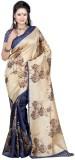 Gini Gold Printed Bollywood Raw Silk Sar...