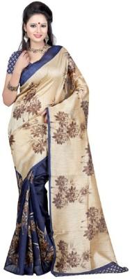Gini Gold Printed Bollywood Raw Silk Sari