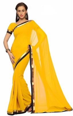 Alethia Enterprise Plain Daily Wear Georgette Sari