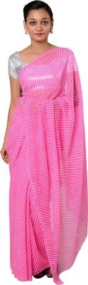 Smile2u Retailers Printed Leheria Chiffon Sari