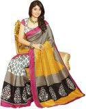 Govindam Printed Fashion Printed Silk Sa...