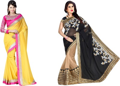Krishna Creation Embriodered Bollywood Lace Sari