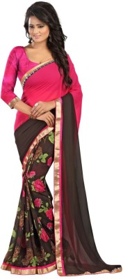 Shoppers Shop Solid Bollywood Satin Sari
