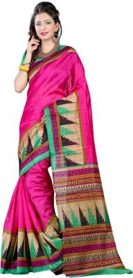 Geeta Sarees Printed Bhagalpuri Pure Silk Sari