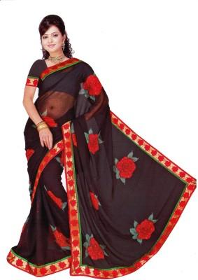 BvrSilks Self Design Fashion Synthetic Sari