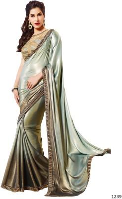Vibha Creation Self Design Bollywood Shimmer Fabric Sari