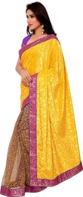 Gunjan Creation Self Design Lehenga Saree Dupion Silk Sari