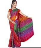 Sarswati Printed Bandhej Handloom Crepe ...