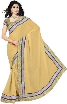 Vishnupriya Fabs Self Design Fashion Chiffon Sari