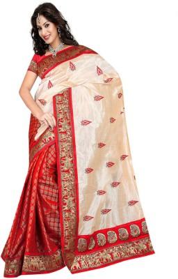 Sciocco Embriodered Fashion Chanderi Sari