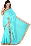 Omkarcreation Solid Bollywood Chiffon Sa...