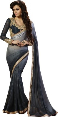 shart Striped Assam Silk Georgette Sari