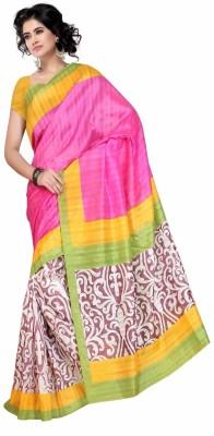 NyakaranFashionSurat Printed Bhagalpuri Handloom Silk Sari