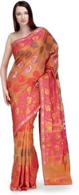 Shad Banarsi Woven Banarasi Banarasi Silk Sari(Brown)