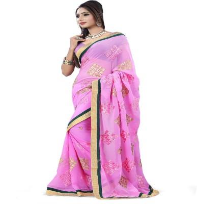 Snreks Collection Embriodered Fashion Chiffon Sari
