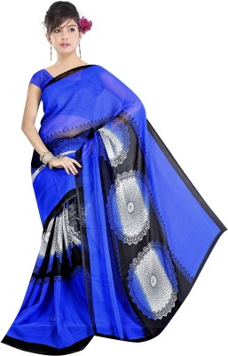 Stalion Creation Printed Fashion Georgette Sari