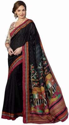 Kashvi Sarees Printed Bhagalpuri Raw Silk Sari